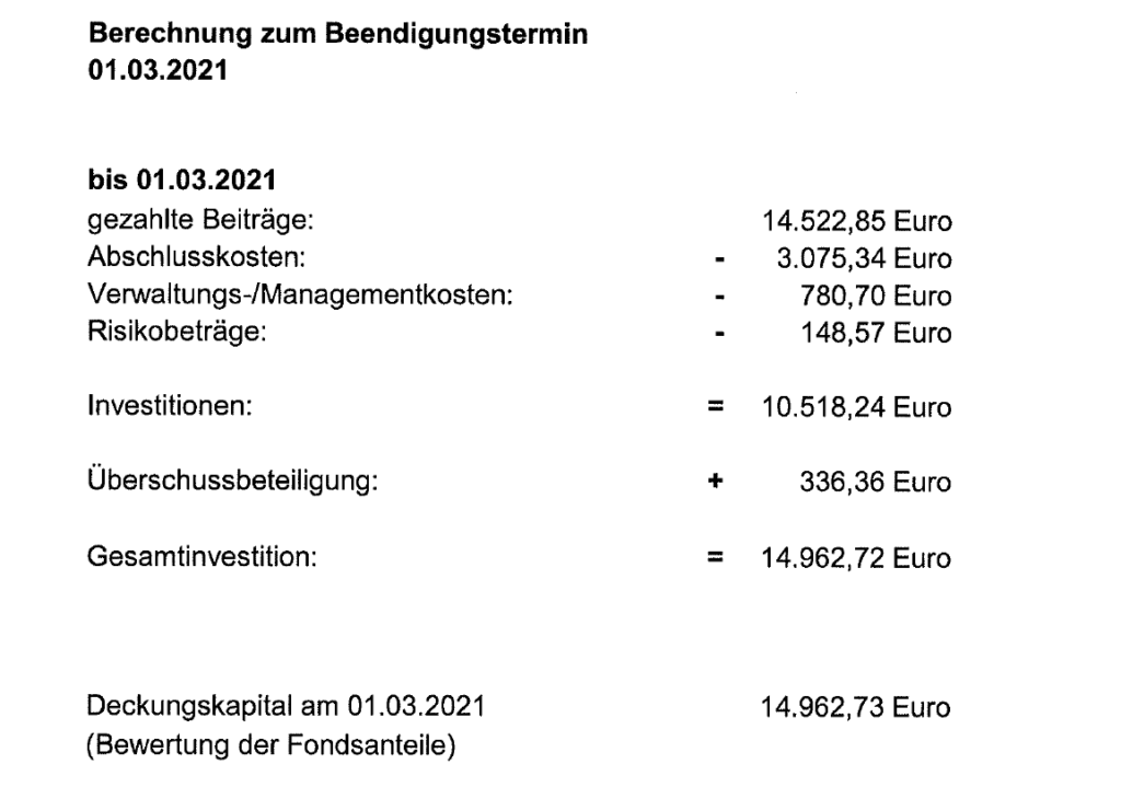 Abschlußkosten Lebensversicherung Skandia